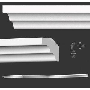 NMC Stuckleisten Profilleiste Nomastyl Plus E (25 x 20 mm), Länge 2 m