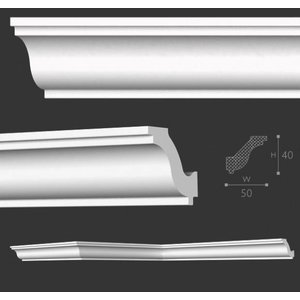 NMC Stuckleisten Profilleiste Nomastyl Plus H (40 x 50 mm), Länge 2 m