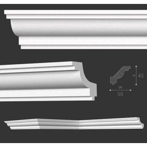 NMC Stuckleisten Profilleiste Nomastyl Plus J (45 x 50 mm), Länge 2 m