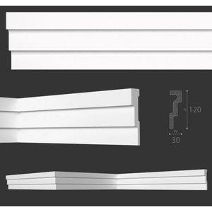NMC Stuckleisten Profilleiste Nomastyl Plus M1 (120 x 30 mm), Länge 2 m