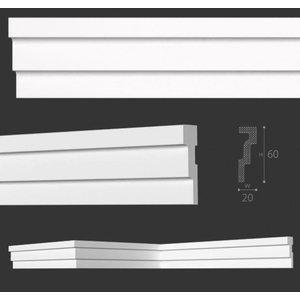 NMC Stuckleisten Profilleiste Nomastyl Plus M2 (60 x 20 mm), Länge 2 m