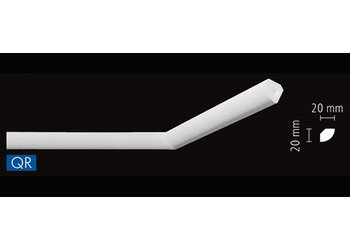 NMC Stuckleisten Profilleiste Nomastyl Plus QR (20 x 20 mm), Länge 2 m