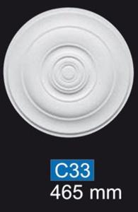 Rosette C33 Polystyrol NOMASTYL