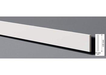 NMC Universal Wand- und Fußleiste Wallstyl FL9 (100 x 8 mm), Länge 2 m