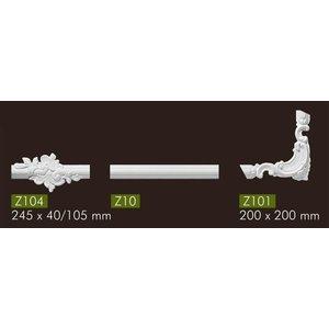 NMC Stuckleisten Profilleiste Wandleisten Arstyl Z10 (40 x 20 mm), Länge 2 m