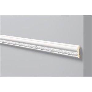 NMC Stuckleisten Profilleiste Wandleisten Arstyl Z30 (80 x 20 mm), Länge 2 m