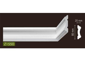 NMC Stuckleisten Profilleiste Wandleisten Arstyl Z1550 (80 x 20 mm), Länge 2 m