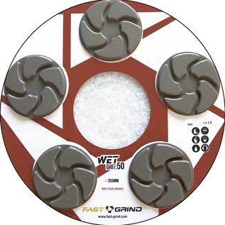 FAST-GRIND FAST-GRIND discs - Le système de polissage du béton le plus rapide, le plus simple et le plus durable du marché.