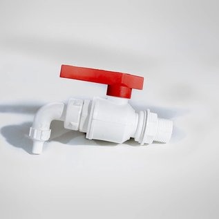 IN2-CONCRETE White PVC Barrel tap