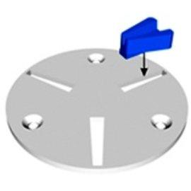 Superabrasive QuickChange Adapter platen voor Diamatic of Blastrac machines