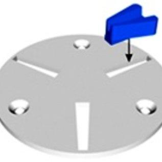 Superabrasive QuickChange-hållarplatta för Diamatic / Blastrac maskiner