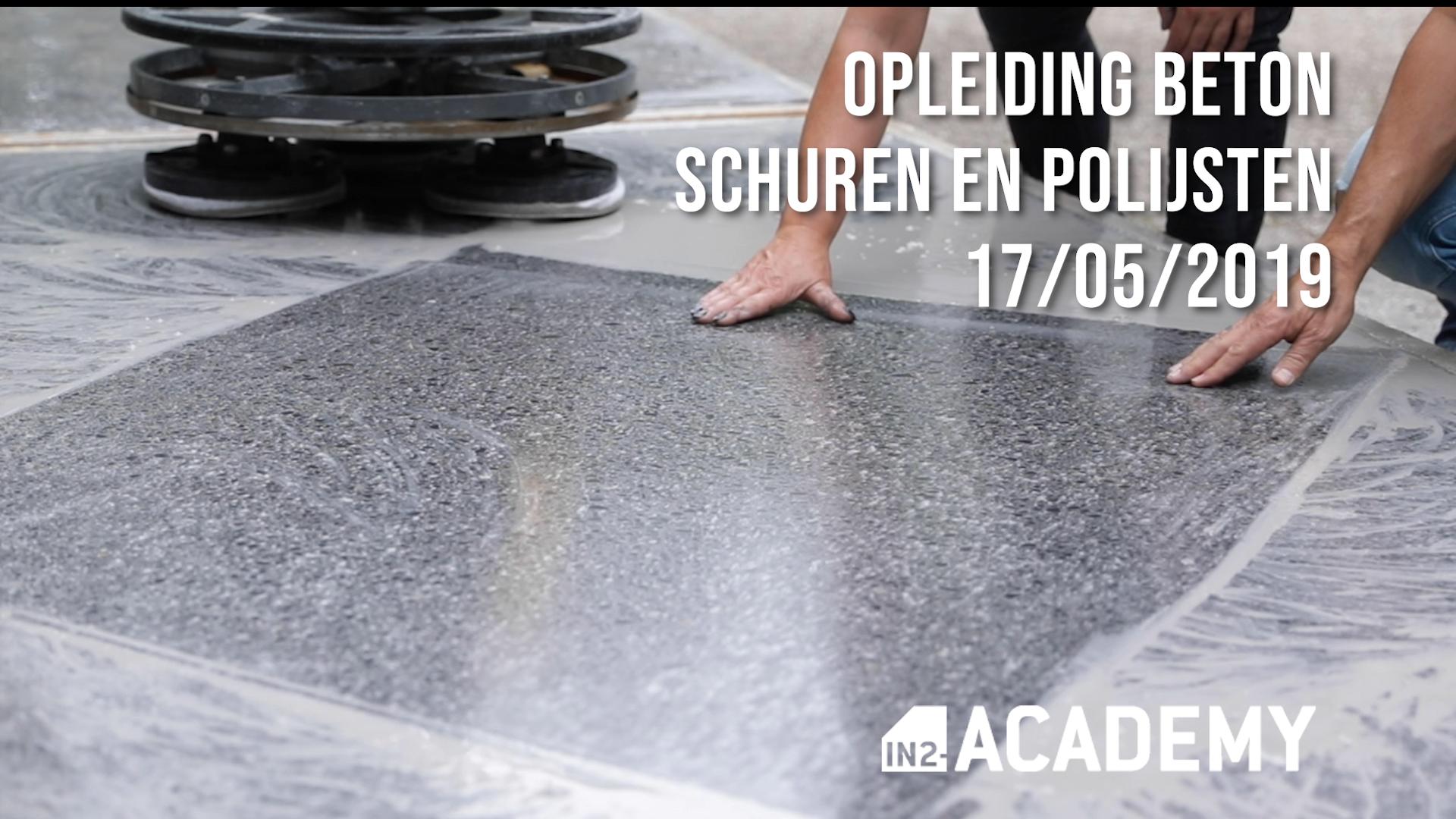 Nieuwe data opleiding beton schuren en polijsten