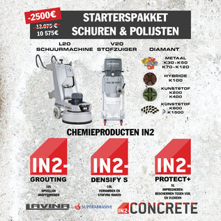 IN2-CONCRETE Polishing starter pack grinding and polishing