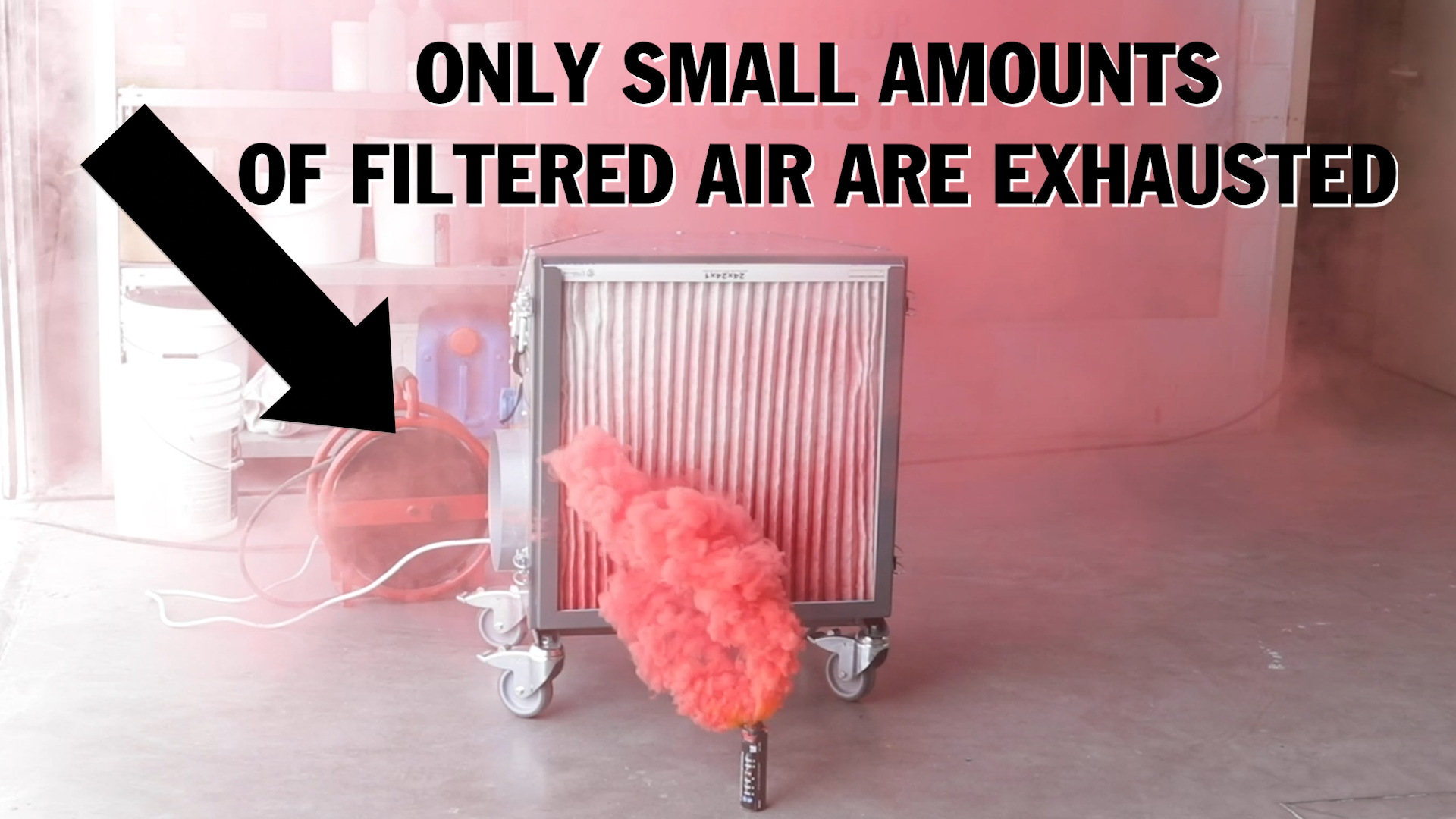 Lavina Air Scrubber vs. Smoke bomb