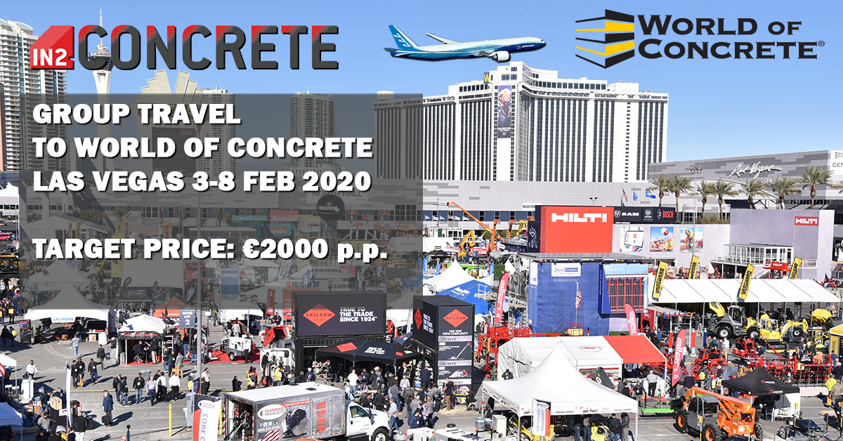 Group travel to World of Concrete in Las Vegas