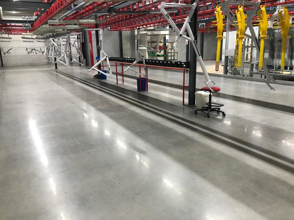 Polished concrete floors reflect up to 30% of the present