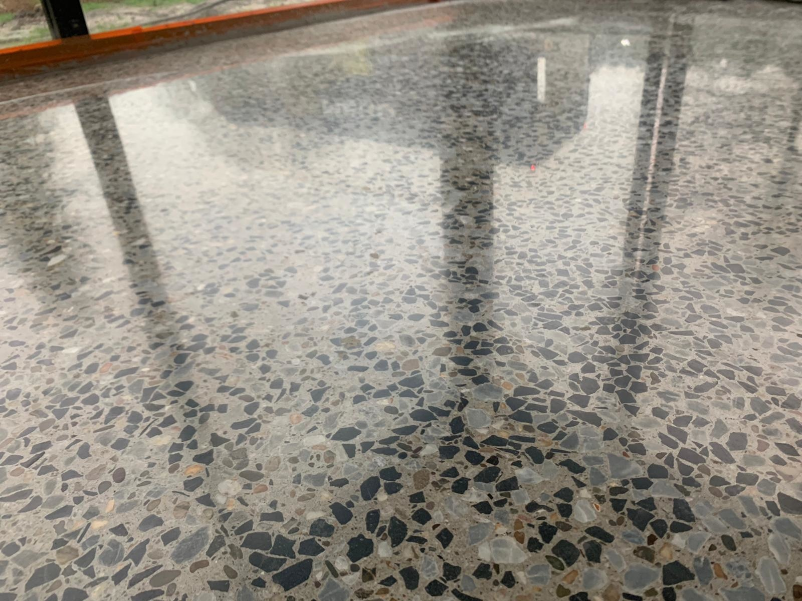 Two applications of polished concrete: in homes and in a heavy duty environment