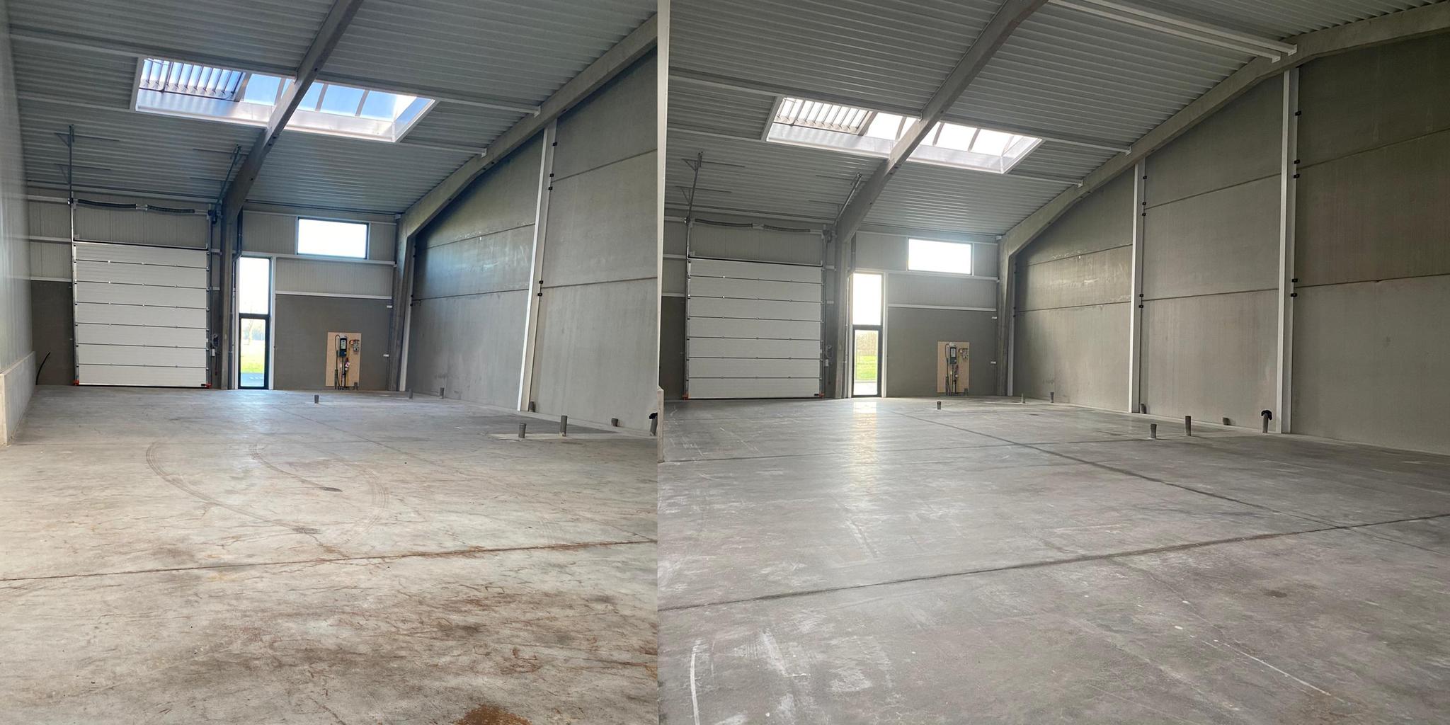 Renovatie 30 jaar oude betonvloeren in garagecomplex van 3600m²