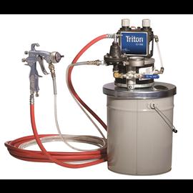 Triton HVLP Sprayer on pail