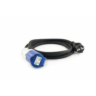 LumX Neopreen verlengkabel 3 poles EN 60309