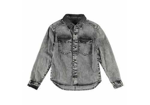 Finger in the nose DAO Grey Denim Snow - Boy Long Sleeves Shirt