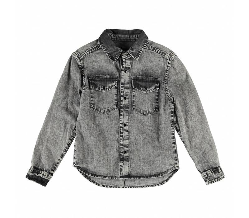 DAO Grey Denim Snow - Boy Long Sleeves Shirt
