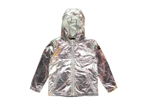 Finger in the nose NOMADE Irridescent Mermaid - Girl Woven Rain Zipped Jacket