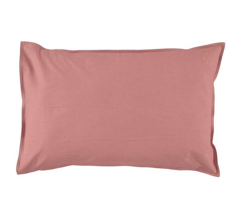 Solid Colour Pillow Case - Rose