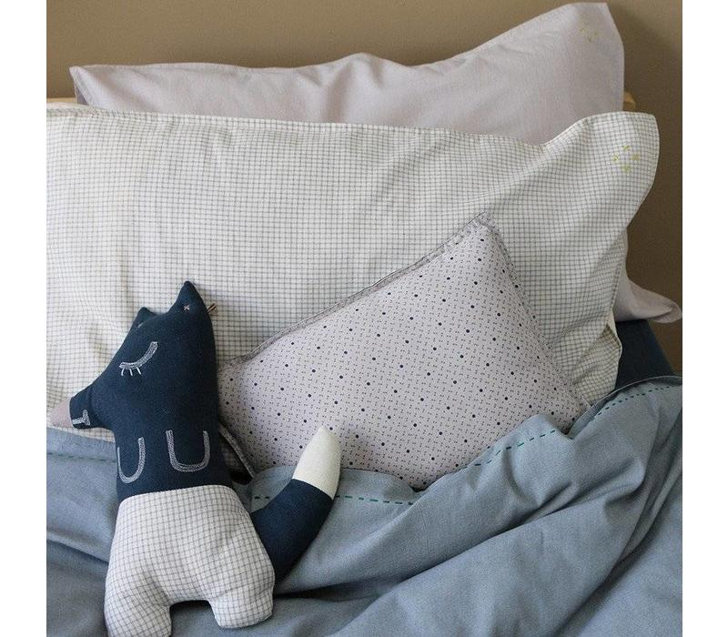 Pillow Case - Small Double Check Ivory/Grey