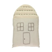 Midi House Cushion In Bag - Check/Stone