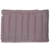 Hand Quilted Blanket - Embroidery Golden Warm Grey