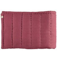 Hand Quilted Blanket - Embroidery Golden Deep Rose