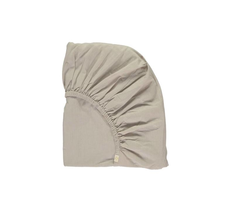 Fitted Sheets - Solid Soft Grey - Keiko Base