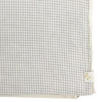 Duvet Cover - Small Double Check Ivory/Grey