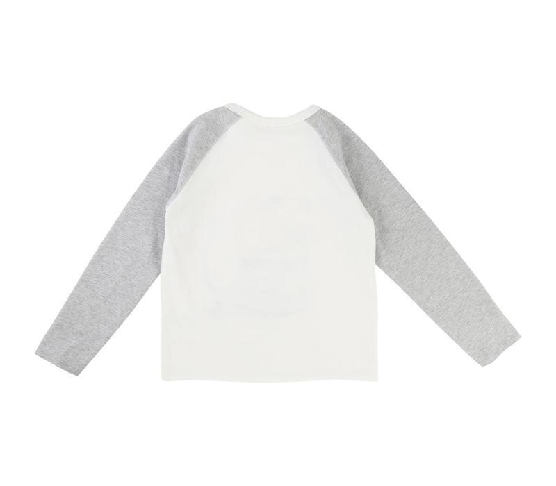 T-Shirt winter, white/red