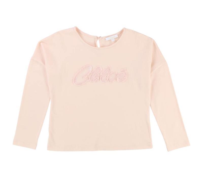 T-Shirt long sleeves, pink