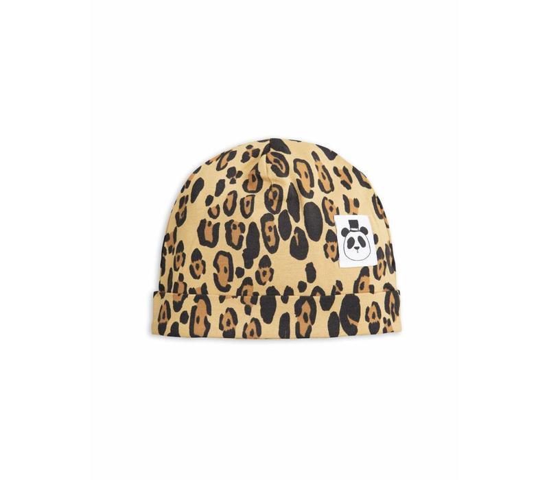 Basic Leopard Baby Beanie Beige