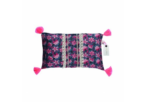 Louise Misha Pillow Case Mirt Blue Flower