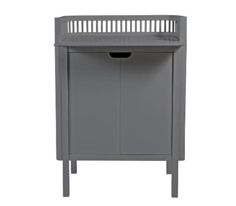 Sebra commode grijs hout 79,5x74x90cm