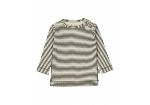 Kidscase Sky organic NB t-shirt, grey/off-white