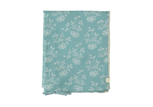 Camomile London Duvet Cover In A Bag Hanako Floral Light Teal