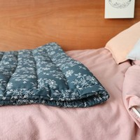Hand Quilted Blanket In A Bag Hanako Floral Thunder Blue