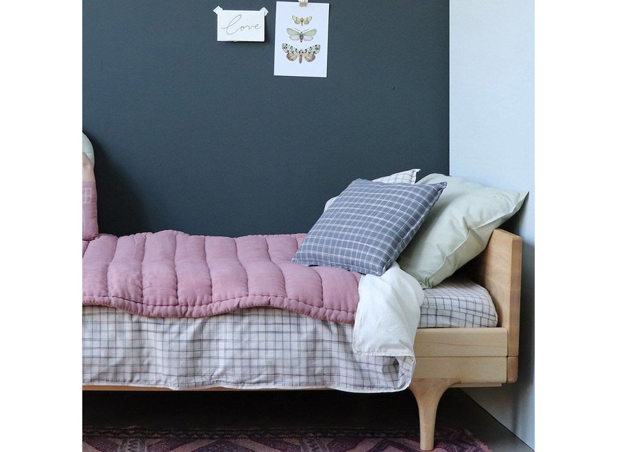 Hand Quilted Blanket  Blush