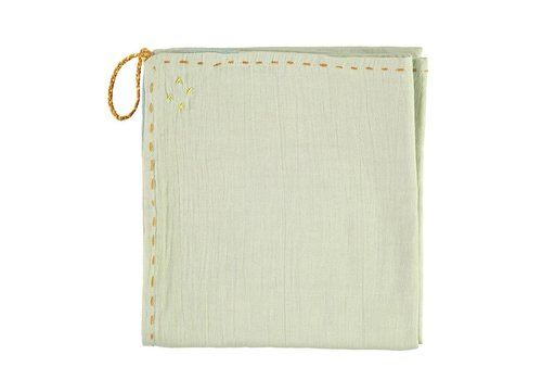 Camomile London Single Layer Swaddle - Golden Mint