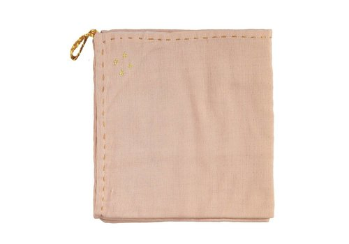 Camomile London Single Layer Swaddle - Golden Pearl Pink