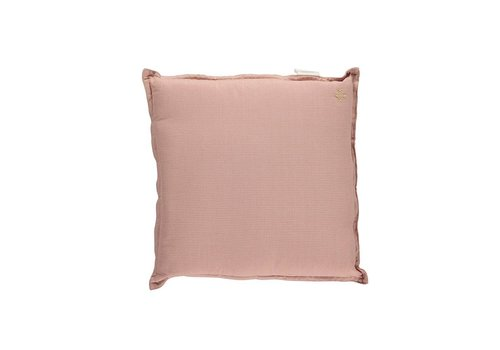 Camomile London Check And Printed Cushions Mini Check Coral