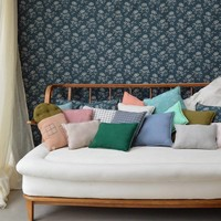 Check And Printed Cushions Mini Check Coral