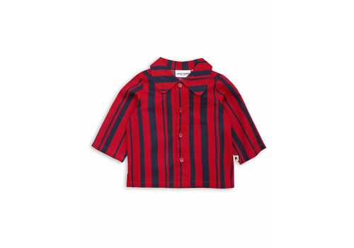 Mini Rodini Odd stripe woven shirt Red