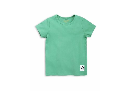Mini Rodini Solid rib ss tee Green
