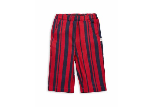 Mini Rodini Odd stripe woven trousers Red